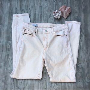Gap size 30R light pink skinny jeans